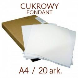 PAPIER CUKROWY JADALNY FONDANT 20 ARK. A4